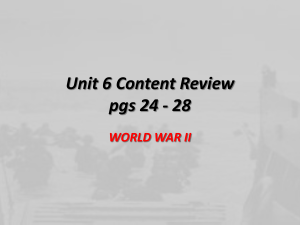 Unit 6 Content Review pgs 24 - 28