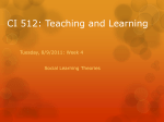 Day 7 Social Learning Theories - CI512