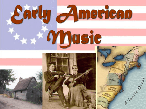 Early American music influences