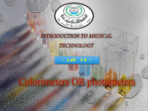 Colorimeters or photometers