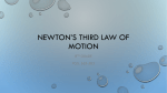 Newton*s third Law of Motion