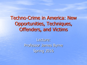 Techno-Crime in America spring 2016