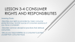 Lesson 3-4 Consumer rights and responsibilities