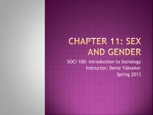 CHAPTER 12: THE GENDER ORDER AND SEXUALITY