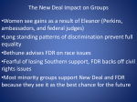 The New Deal Impact on Groups - Nutley Public School District