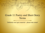 Grade 11 Poetry and Short Story Terms