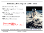 Today in Astronomy 111: Earth`s moon