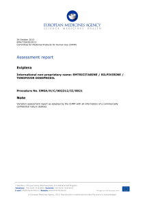 EPAR - Assessment Report - Variation - EMA