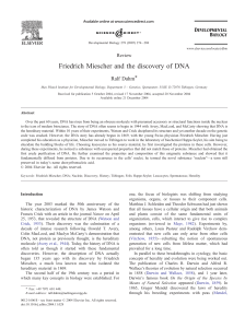 Friedrich Miescher and the discovery of DNA