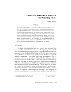 Sunni-Shia Relations in Pakistan - Institute for Defence Studies and
