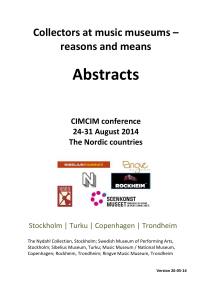 conference abstracts