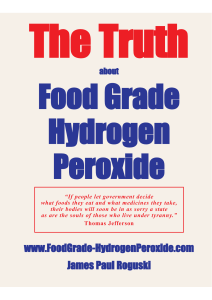 www.FoodGrade-HydrogenPeroxide.com James Paul Roguski