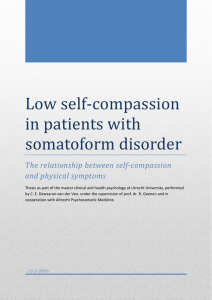 Low self-compassion in patients with somatoform disorder