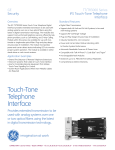 Touch-Tone Telephone Interface