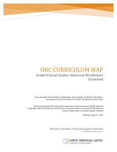 ORC CURRICULUM MAP