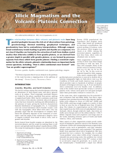 Silicic Magmatism and the Volcanic–Plutonic Connection