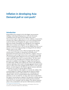 Inflation in Developing Asia: Demand-Pull or Cost
