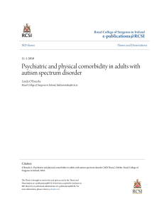 Psychiatric and physical comorbidity in adults with autism spectrum