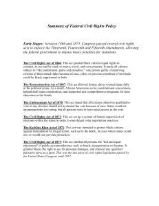 Federal Civil Rights Policy Summary and Overview