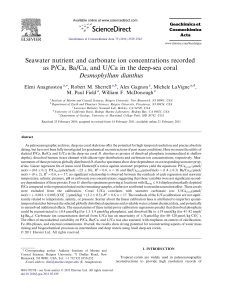 Seawater nutrient and carbonate ion concentrations recorded as P
