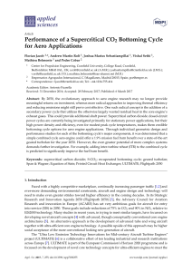 Performance of a Supercritical CO2 Bottoming Cycle for Aero