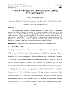 Mathematical Interpretation Of Electromagnetic Lightning Discharge