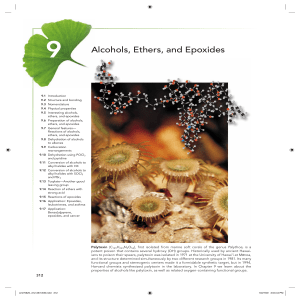 Alcohols, Ethers, and Epoxides