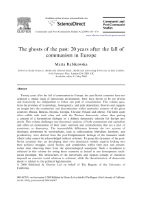 The ghosts of the past: 20years after the fall of communism in