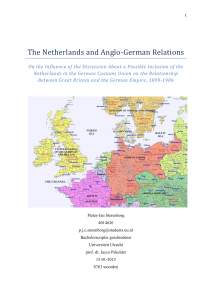The Netherlands and Anglo-German Relations