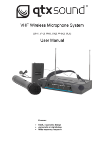 VHF Wireless Microphone System User Manual