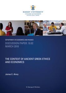 discussion paper: 10.02 march 2010 the context of ancient greek