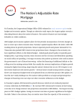 The Nation`s Adjustable Rate Mortgage