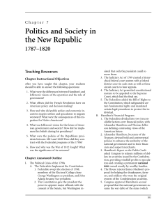 Chapter 7: Politics and Society in the New Republic