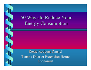 50 ways to reduce your energy consumption