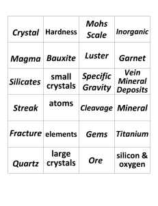 Crystal Hardness Mohs Scale Magma Bauxite Luster Garnet