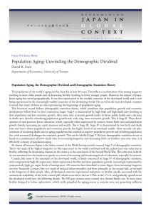 Population Aging: Unwinding the Demographic Dividend