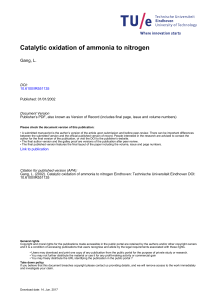 Catalytic oxidation of ammonia to nitrogen