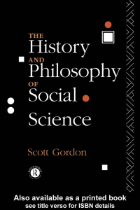 The History and Philosophy of Social Scienceee