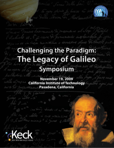 The Legacy of Galileo - Keck Institute for Space Studies