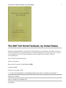 The 2007 CIA World Factbook - The Free Information Society