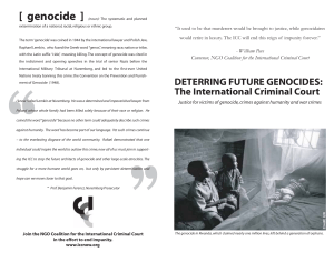 Deterring Future Genocides - Coalition for the International Criminal