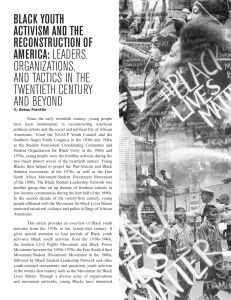 black youth activism and the reconstruction of america: leaders