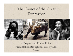 The Causes of the Great Depression Powerpoint