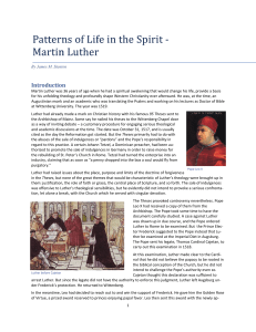 Martin Luther - the Stanton Family Website