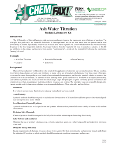 Ash Water Titration