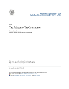 The Subjects of the Constitution