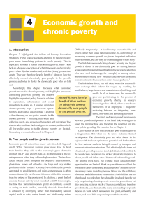 Chapter 4: Economic growth and chronic poverty