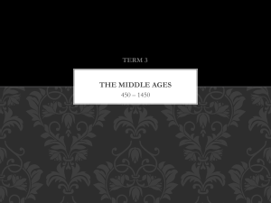 the middle ages - Educator Pages