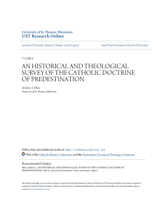 an historical and theological survey of the catholic doctrine of