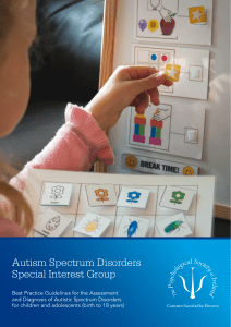 Autism Spectrum Disorders - Best Practice Guidelines